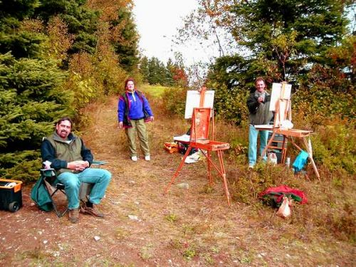 Painting in Charlevoix